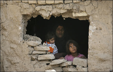 Baghdad family hole in wall