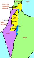 Israel and Palestine map